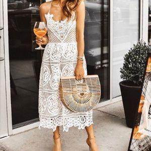 Chicwish Dresses - Lace Crossback Back Dress